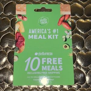 10 FREE MEALS Coupon/Card Hello Fresh